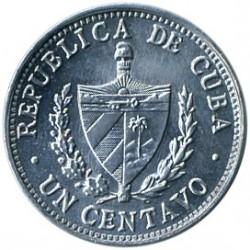 Mynt > 1centavo, 1983-1988 - Cuba  - obverse