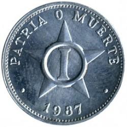 Mynt > 1centavo, 1983-1988 - Cuba  - reverse