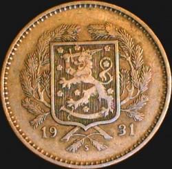 Münze > 10Mark, 1931 - Finnland  - obverse