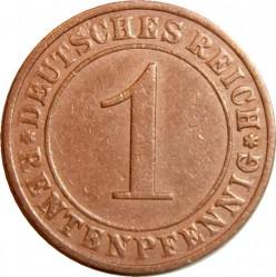 Moneda > 1rentenpfennig, 1923-1929 - Alemania  - reverse