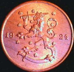 Münze > 1Penny, 1924 - Finnland  - obverse