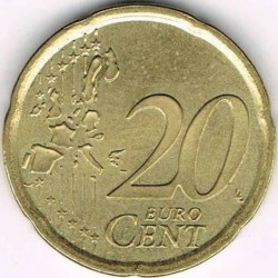 Монета > 20центів, 1999-2006 - Іспанія  - obverse