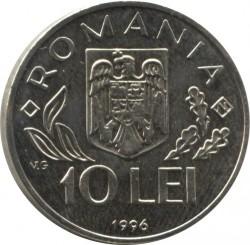 Moneda > 10lei, 1996 - Romania  (Cimera Mundial de l'Alimentació a Roma) - obverse
