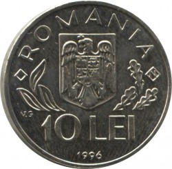 Moneda > 10lei, 1996 - Romania  (Cimera Mundial de l'Alimentació a Roma) - reverse