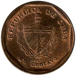 Монета > 1сентаво, 2000-2017 - Куба  - obverse