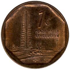 Монета > 1сентаво, 2000-2017 - Куба  - reverse