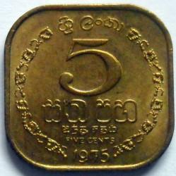 Монета > 5цента, 1975 - Шри Ланка  - reverse