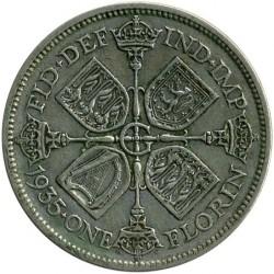 Minca > 2shillings(florin), 1927-1936 - Veľká Británia  - reverse