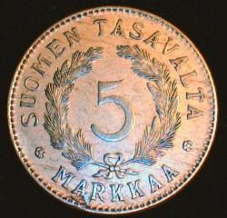 Münze > 5Mark, 1928 - Finnland  - reverse
