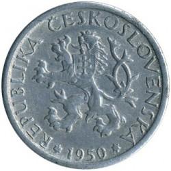 Mynt > 1koruna, 1950-1953 - Tjeckoslovakien  - obverse
