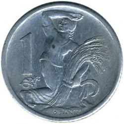 Mynt > 1koruna, 1950-1953 - Tjeckoslovakien  - reverse