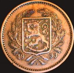 Münze > 5Mark, 1933 - Finnland  - obverse
