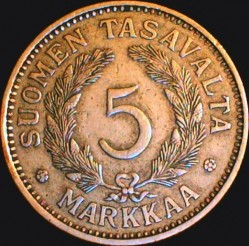 Münze > 5Mark, 1933 - Finnland  - reverse