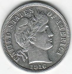 Moneta > 1dime, 1892-1916 - USA  (Barber Dime) - obverse