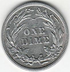 Moneta > 1dime, 1892-1916 - USA  (Barber Dime) - reverse
