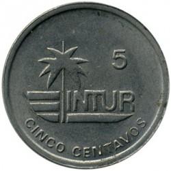 Monēta > 5sentavo, 1989 - Kuba  (INTUR: Non-magnetic) - reverse