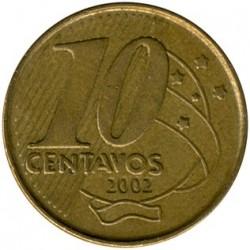 Münze > 10Centavos, 2002 - Brasilien   - reverse