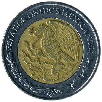 1 peso 1996-2018, Mexico - Coin value - uCoin net
