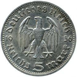 Pièce > 5reichsmark, 1935-1936 - Allemagne - Troisième Reich  - obverse