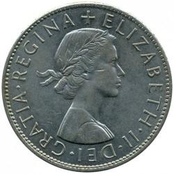 Moeda > ½coroa, 1954-1970 - Reino Unido  - obverse