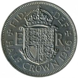 Moeda > ½coroa, 1954-1970 - Reino Unido  - reverse