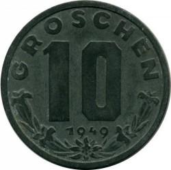 Moneda > 10groschen, 1947-1949 - Àustria  - reverse