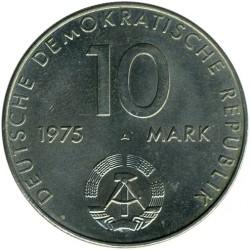Moneda > 10marcos, 1975 - Alemania - RDA  (20º Aniversario - Pacto de Varsovia) - obverse