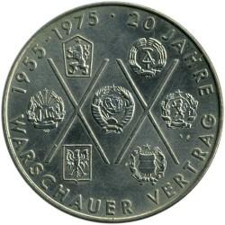 Moneda > 10marcos, 1975 - Alemania - RDA  (20º Aniversario - Pacto de Varsovia) - reverse
