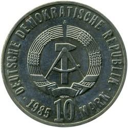 Moneda > 10marcos, 1985 - Alemania - RDA  (40º Aniversario - Liberación del Fascismo) - obverse