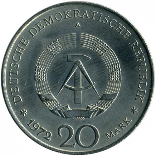20 Mark 1972 Wilhelm Pieck Deutschland Ddr Münzen Wert