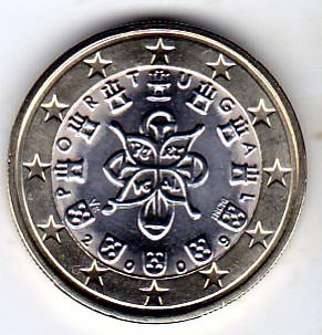 1 Euro 2008 2018 Portugal Münzen Wert Ucoinnet