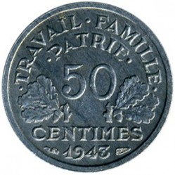 Monedă > 50centime, 1942-1944 - Franța  - obverse