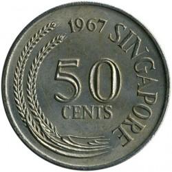 Moneta > 50centów, 1967-1984 - Singapur  - obverse