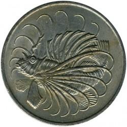 Moneta > 50centów, 1967-1984 - Singapur  - reverse