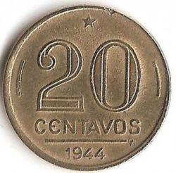 Coin > 20centavos, 1943-1948 - Brazil  (Getúlio Vargas) - obverse