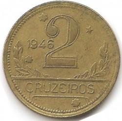 Coin > 2cruzeiros, 1942-1956 - Brazil  - reverse