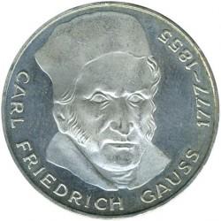 Moneda > 5marcos, 1977 - Alemania  (200º Aniversario - Nacimiento de Carl Friedrich Gauss) - reverse