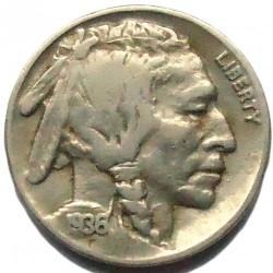Moneta > 5centesimi, 1913-1938 - USA  (Buffalo Nickel) - obverse