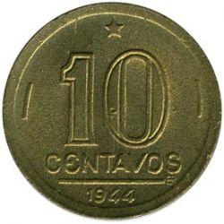 Coin > 10centavos, 1943-1947 - Brazil  (Getúlio Vargas) - obverse