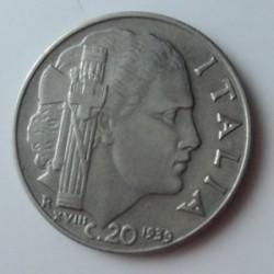 Монета > 20чентезими, 1939 - Италия  (Non-magnetic, smooth edge) - reverse
