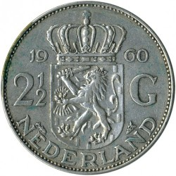 Munt > 2½gulden, 1959-1966 - Nederland  - reverse