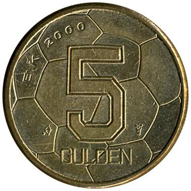 5 Gulden 2000 Euro 2000 Football Niederlande Münzen Wert