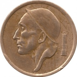 Munt > 20centimes, 1954-1960 - Belgie  (Legend in Dutch - 'BELGIE') - reverse