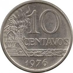 Moneda > 10centavos, 1974-1979 - Brasil  - reverse