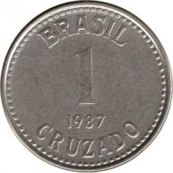Монета > 1крузадо, 1986-1988 - Бразилия  - reverse