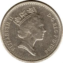 Монета > 5пенсів, 1990-1997 - Велика Британія  - obverse