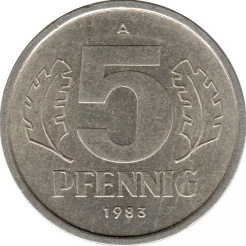 5 Pfennig 1976 1990 Deutschland Ddr Münzen Wert Ucoinnet