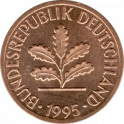 Pièce > 1pfennig, 1950-2001 - Allemagne  - obverse