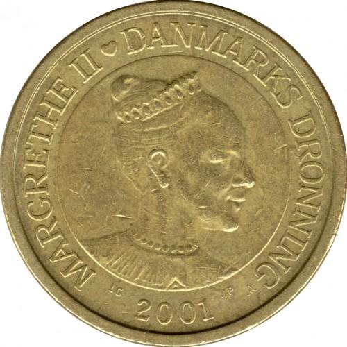 Coin 10 Kroner 2001 2002 Denmark Obverse