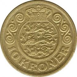 Münze > 10Kronen, 2001-2002 - Dänemark   - reverse